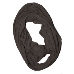 Brown Solid Infinity Scarf