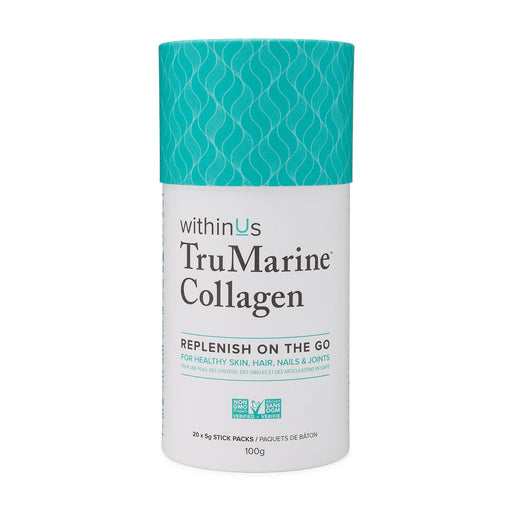 Photo of withinUs TruMarine Collagen stick pack canister