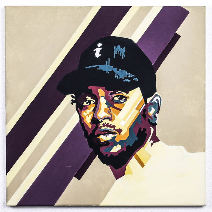 Kendrick Lamar Hand-Made Portrait