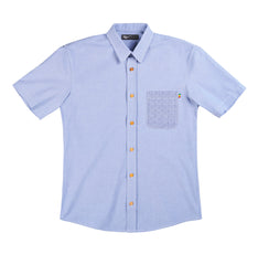 Short Sleeve Button Down - Blue Chambray