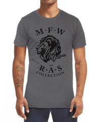 RAS Iconic Lion Head T-Shirt - Asphalt