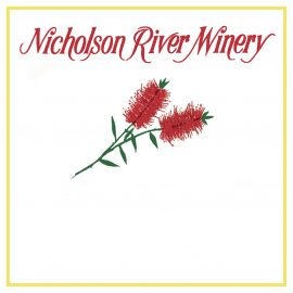 A variation of the Nicholson River Winery front label.