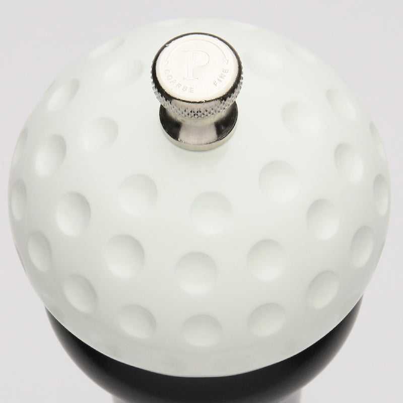 08510 8 Inch Pepper Mill with Black Finish and White Golf Ball Replica Resin Top