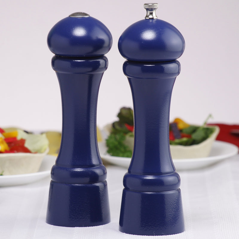 08700 8 Inch Windsor Pepper Mill & Salt Shaker Set, Blue