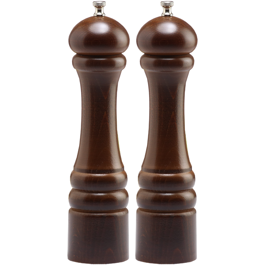 10102 10 Inch Imperial Pepper Mill & Salt Mill Set, Walnut