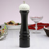 10510 10 Inch Pepper Mill with Black Finish and White Golf Ball Replica Resin Top, Table View