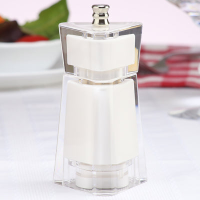 29451 4.5 Inch Kate Pepper or Salt Mill, White, Table View
