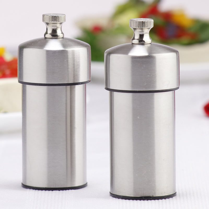 4 Inch Futura Stainless Steel Pepper Mill and Salt Mill Set 29910