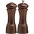 6 Inch Elegance Pepper Mill and Salt Shaker Set with Walnut Finish 06100