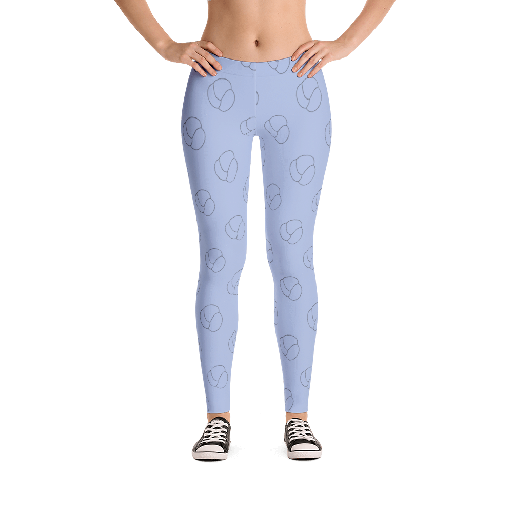 Stitch People Logo Leggings - Blue