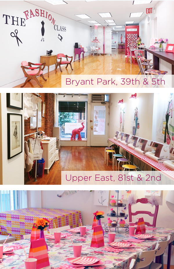 Sewing and Fashion Design Birthday Parties in Manhattan