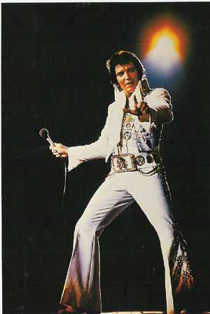Elvis Postcard White Jumpsuit