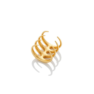 Quad Quill Ring - Gold