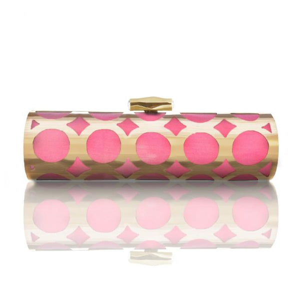 Cala: Hand Painted Roll Clutch - AMANDA PEARL