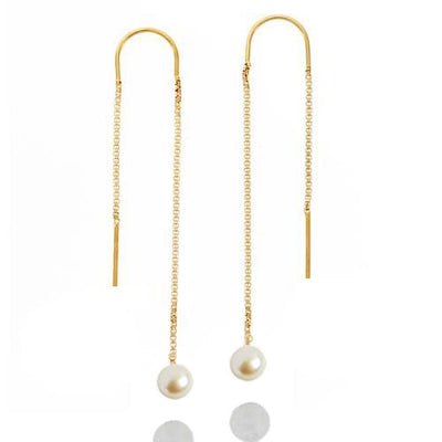 Pearl Ear Threader Earrings