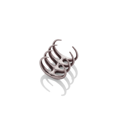 Quad Quill Ring - Gunmetal
