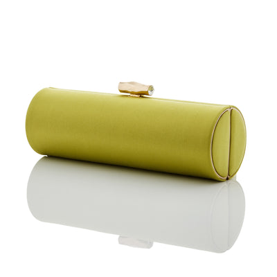 Samantha: Chartreuse Duchess Roll Clutch