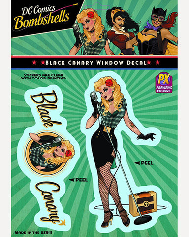 DC Bombshells Decal - Black Canary