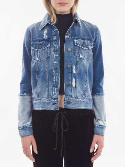 Reverse Sleeve Denim Jacket