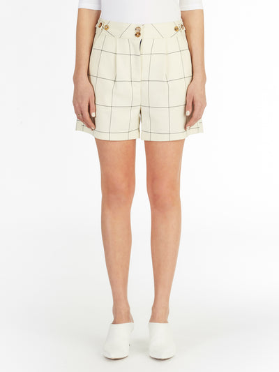 Sydney Checked Trouser Short in Italian Checker Fabric