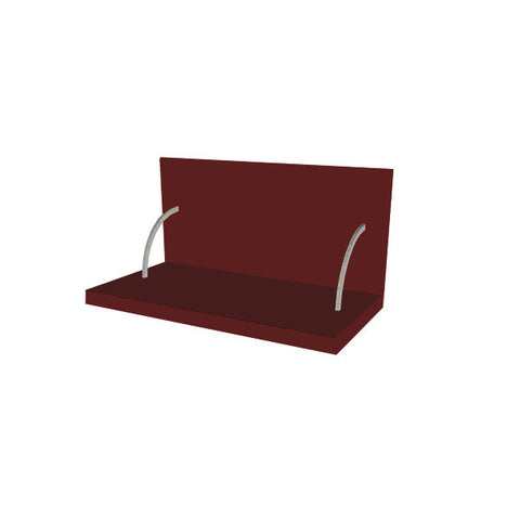 60 Cm. Burgundi High Gloss Spices Shelf With Cladding