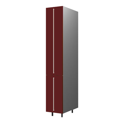 40 Cm. Burgundi High Gloss Tall Pullout  Unit With Drawers