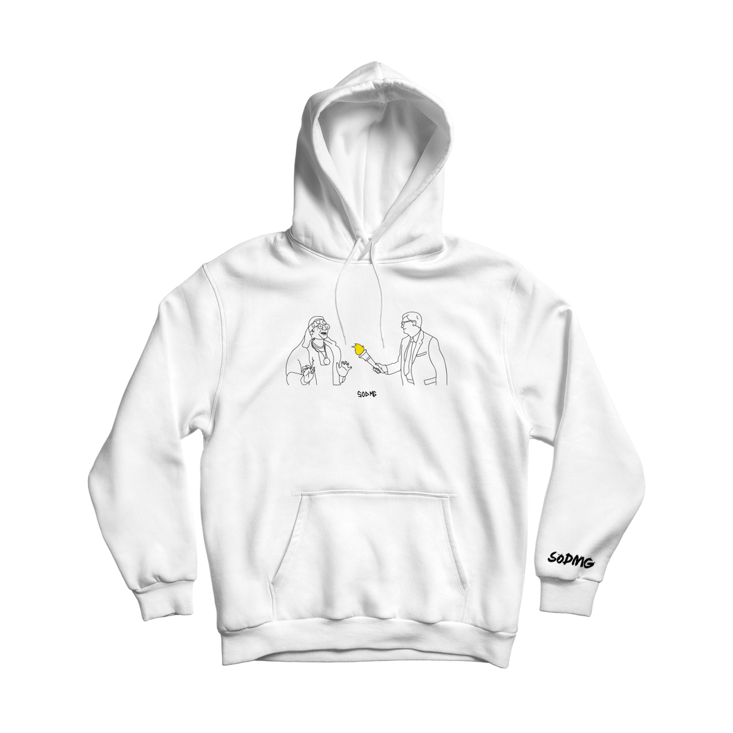 Torch Pass - White Hooded Sweater