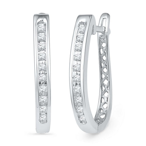 1/5CTW DIAMOND HOOP EARRINGS