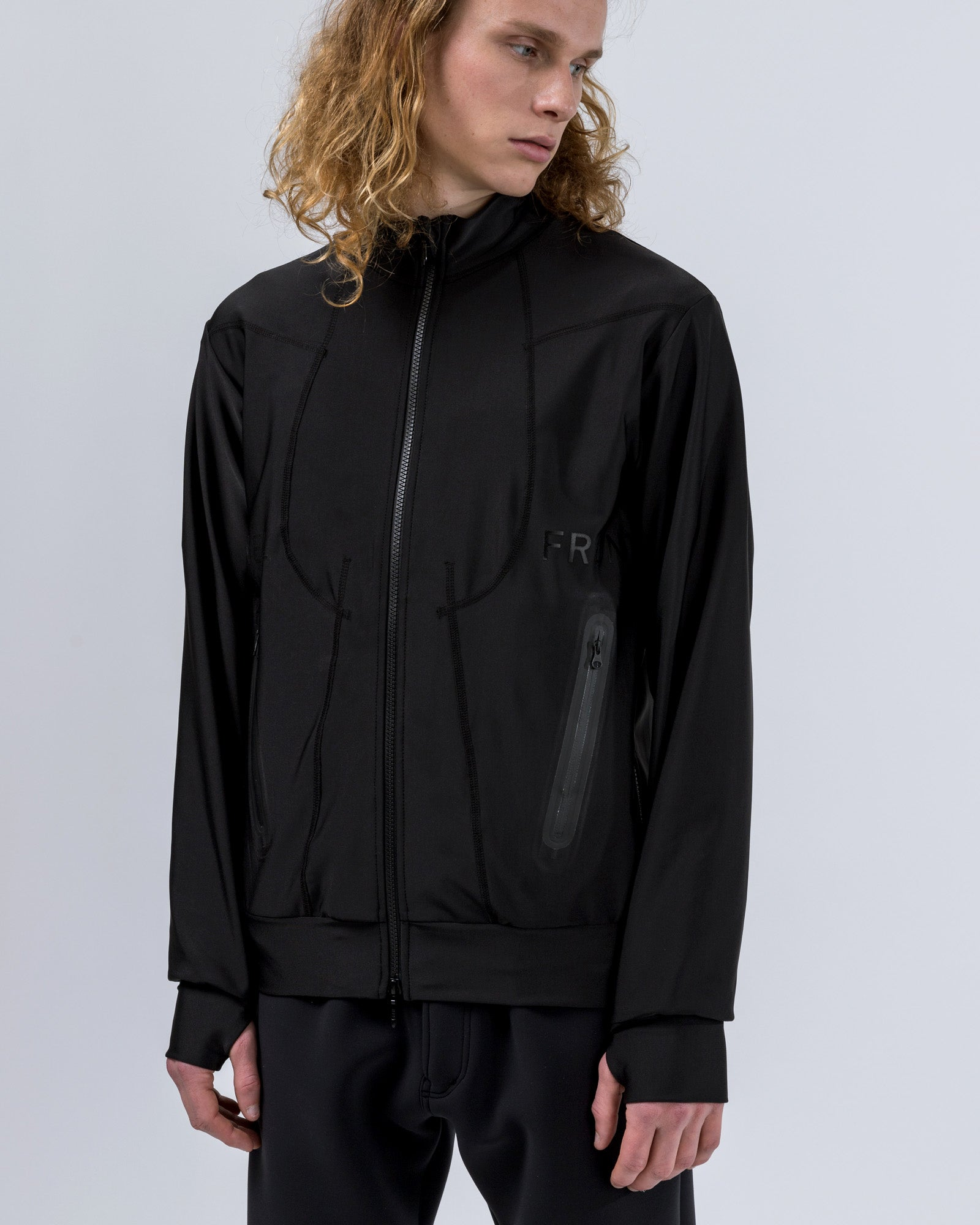 Quick-Drying Rebuilt Blouson in Black