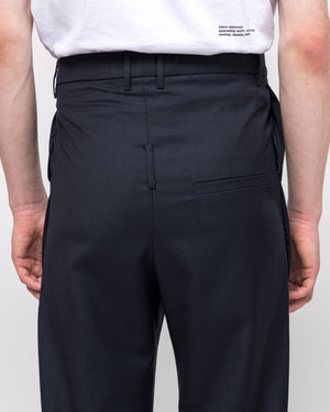 Double Pocket Tailored Trouser in Navy Check