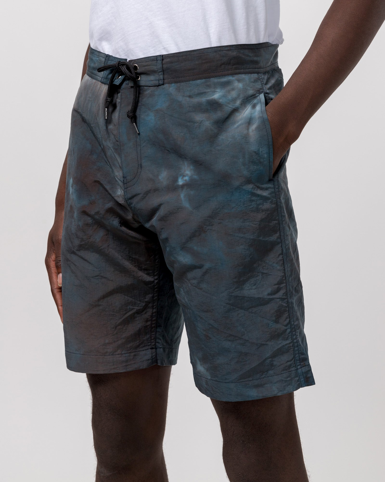 Solar Board Shorts in Teal Tie Dye
