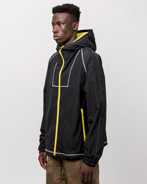 High Shrunk Full Zip in Black & Yellow
