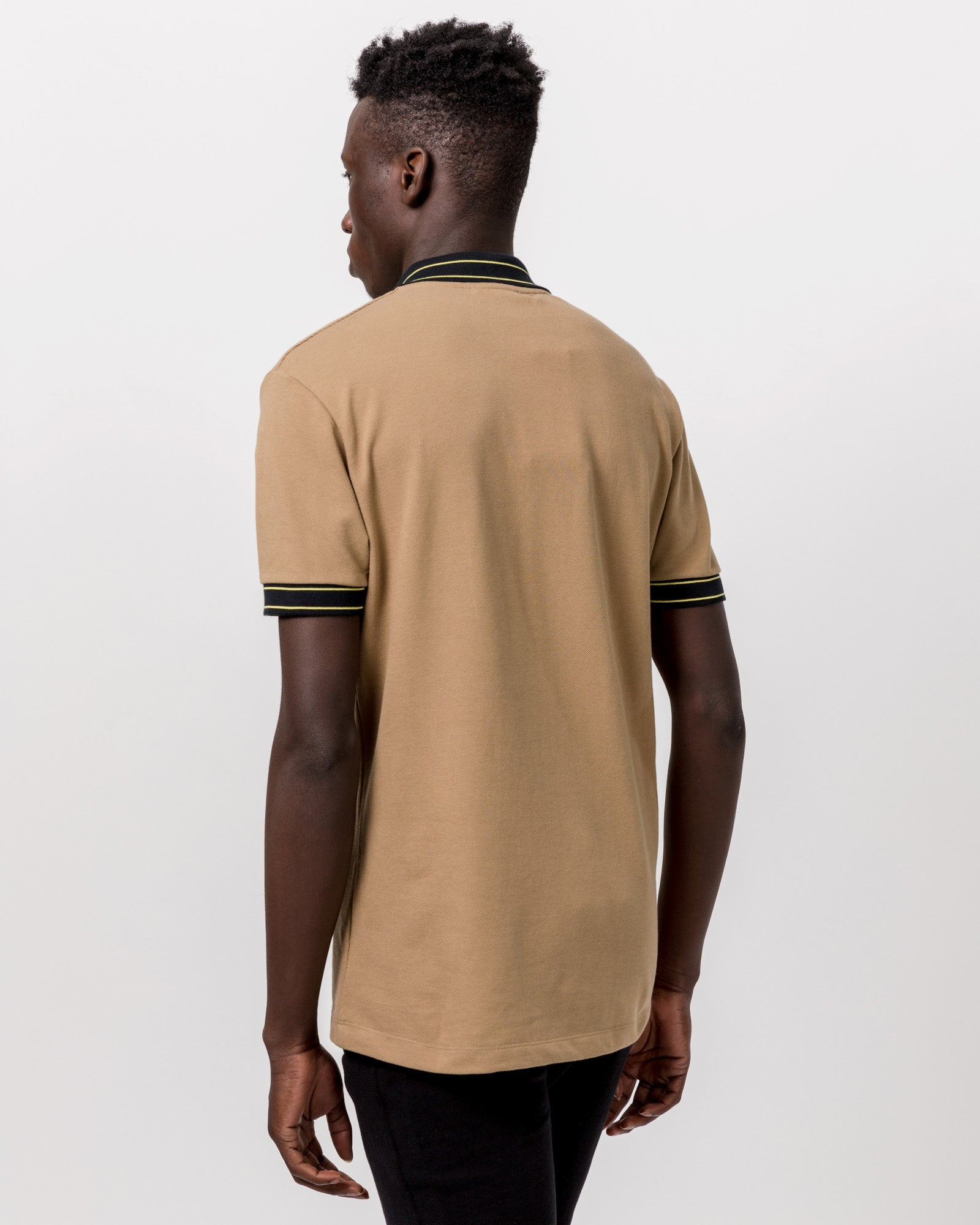Nolan Polo in Beige & Black