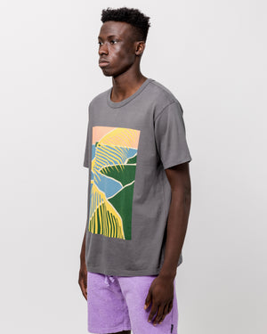 Beach Scene T-Shirt in Charcoal