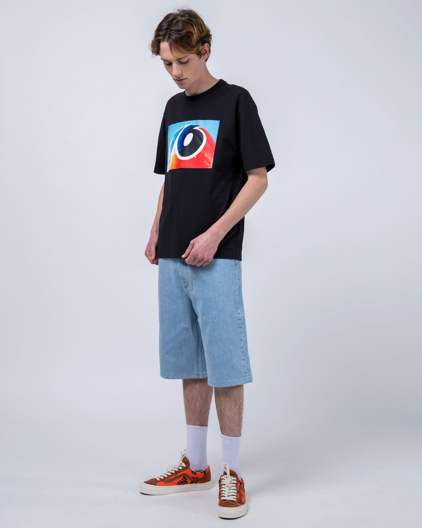 Baggy Short in Macho Blue Trip