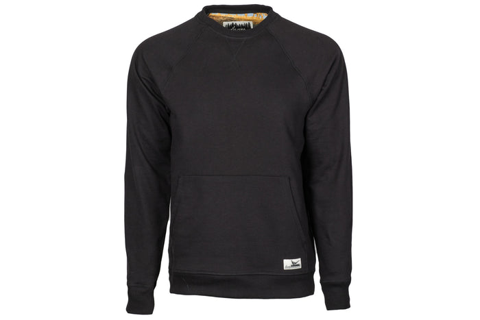 Men's Onyx Black Pocket Crew Sweatshirt