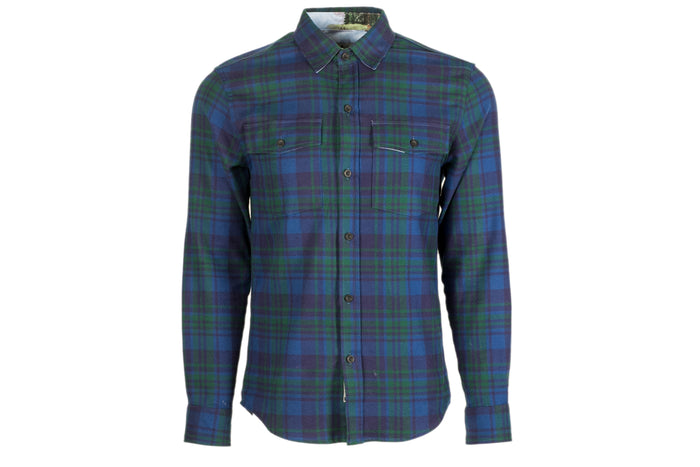 Men's Leon - Presidio Green Flannel