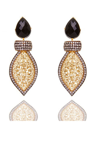 Gold & Black Ariya Earrings