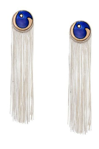 Blue & Silver Valliyan Tassel Earrings