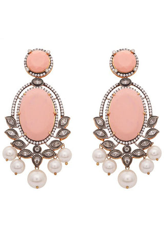 Peach Leela Earrings