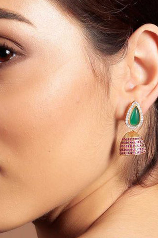 Green Taji Earrings