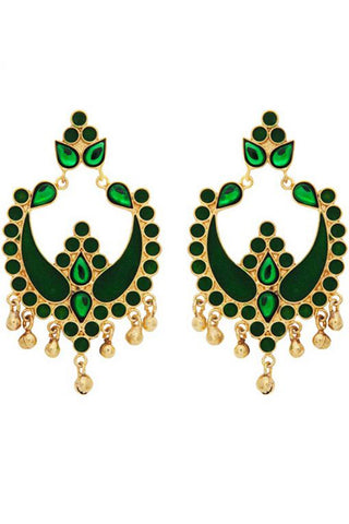 Green Payal Earrings