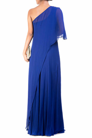 Classic Blue One Shoulder Dress