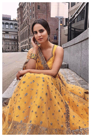 The Yellow Gypsy Lehenga Set CLOSE