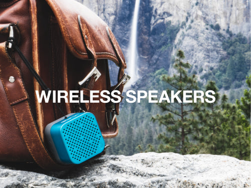 JLab offers portable Bluetooth speakers with metal build and waterproof options