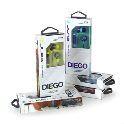 Diego Earbuds Packaging