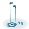 JBuds2 Signature Earbuds in blue with accessories