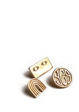 set of three pins // brass