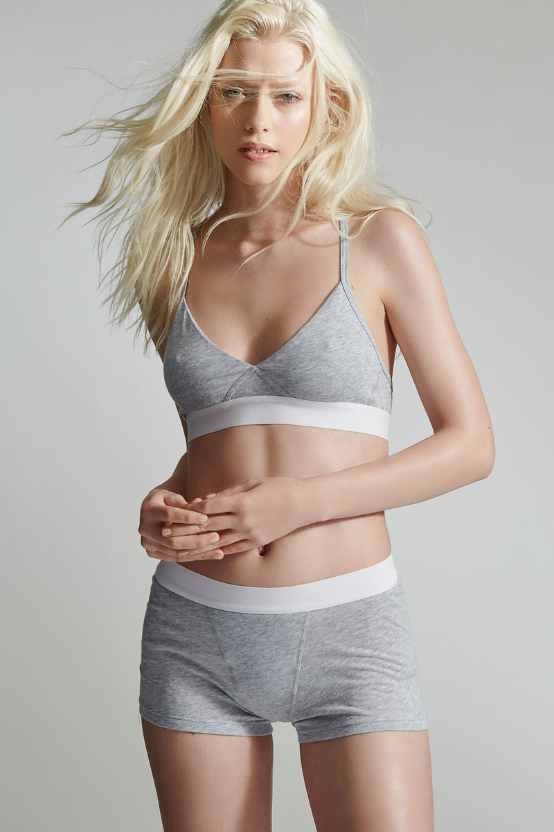 The King's Cross Bra / Heather Grey / Supima Jersey