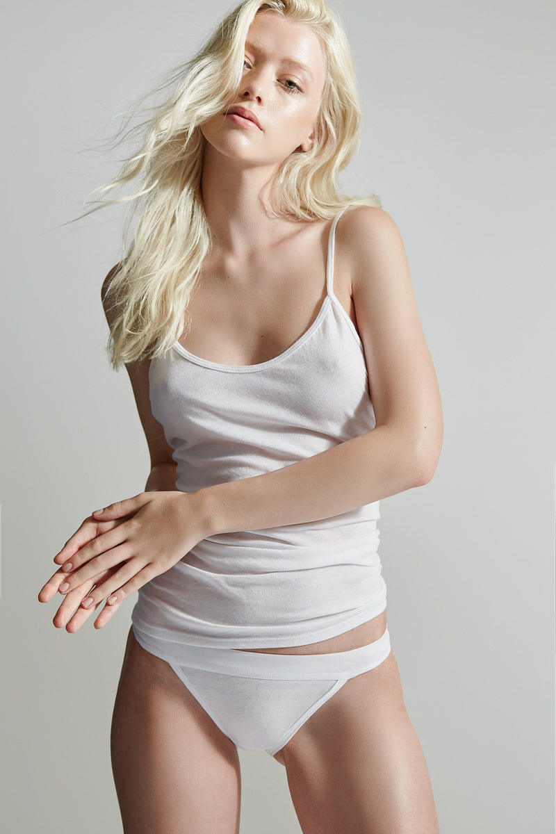 The Laurel Camisole / White / Supima Jersey